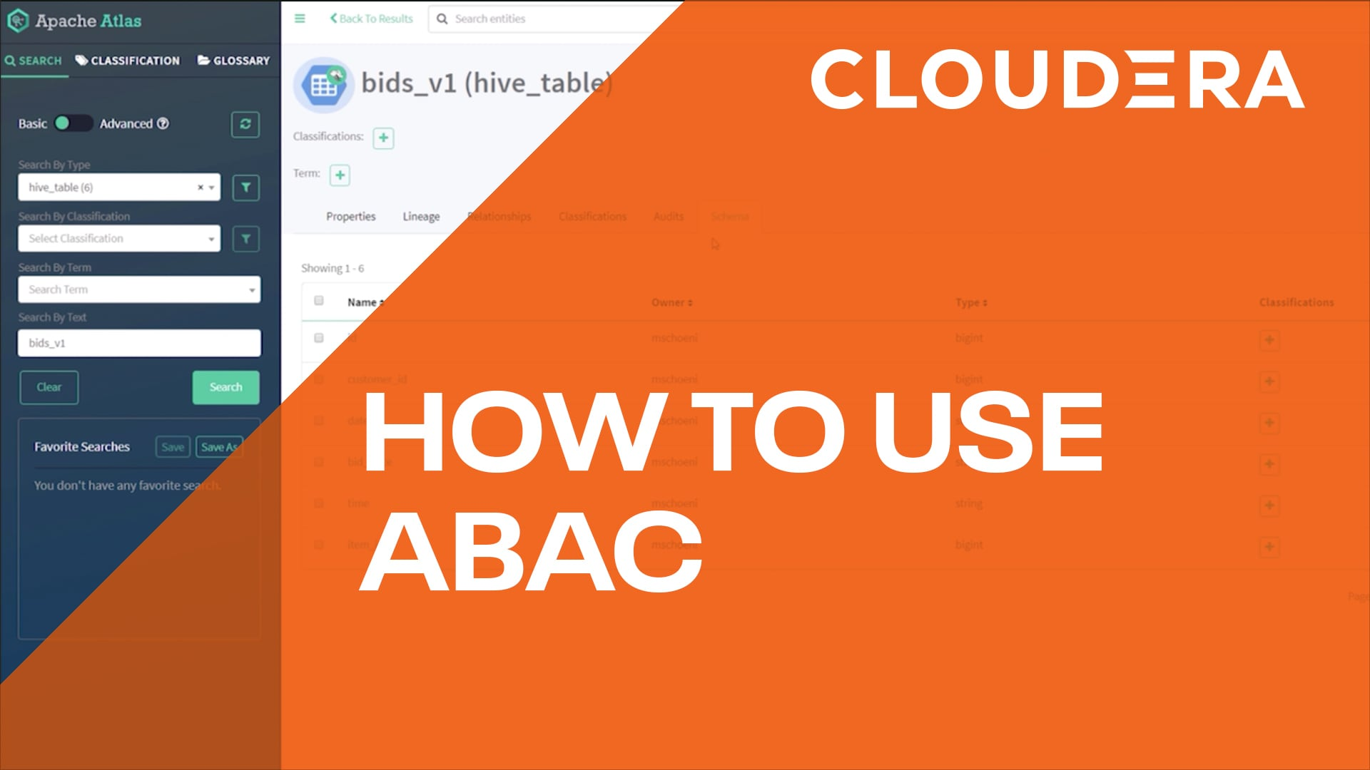 Attribute Based Access Control (ABAC) in Cloudera Data Platform